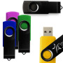 2GB Black Swivel USB Drive