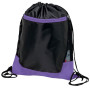 Customized Large Zippered Drawstring Bag