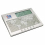 Imprinted Digital World Time Clock, Calendar & Thermometer