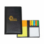 Custom Logo Leather Look Padfolio With Sticky Notes & Flags