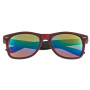 Personalized Woodtone Mirrored Malibu Sunglasses
