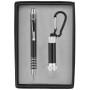 Imprinted Pen & LED Flashlight Key Chain
