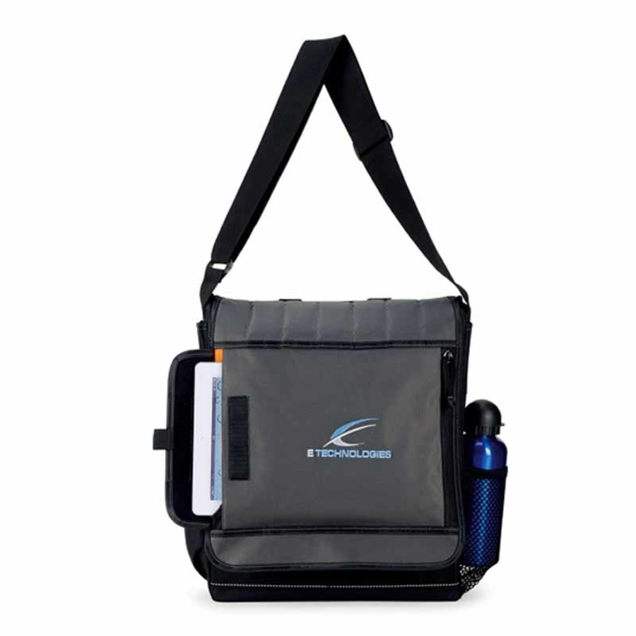 Printed Impact Vertical Computer Messenger Bag