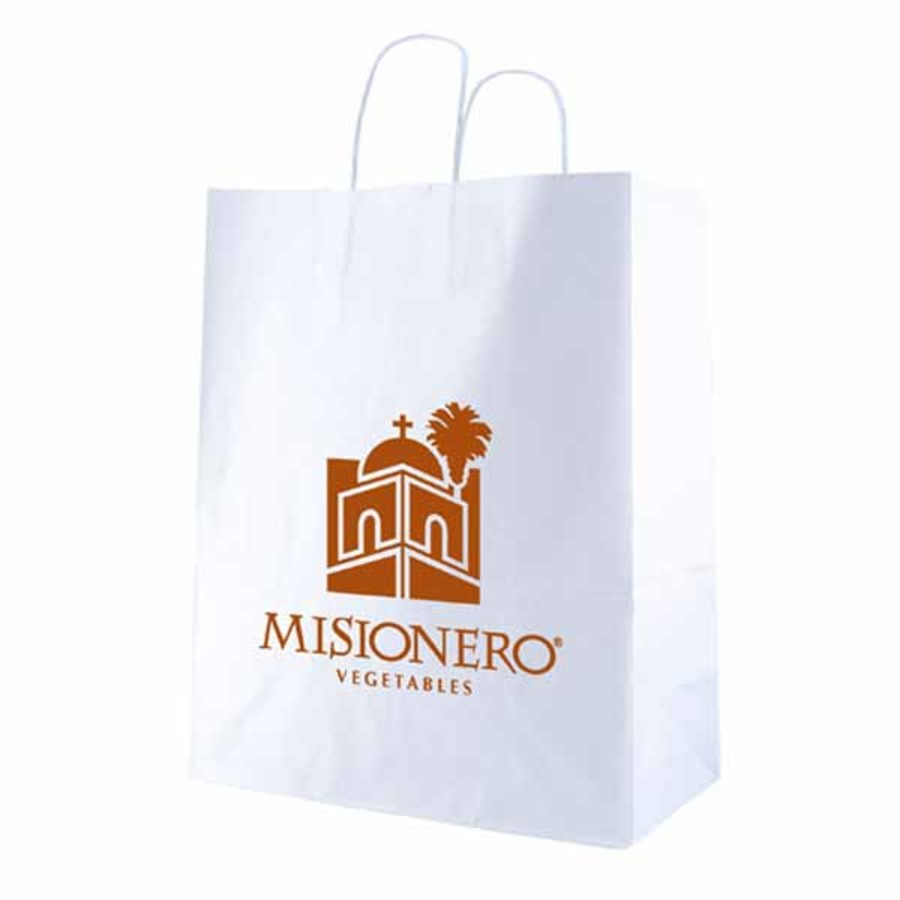 Custom-Logo-White-Kraft-shopping-bags