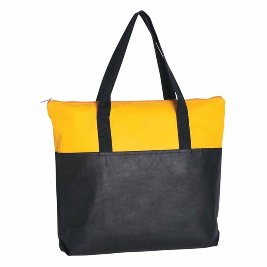 Custom Printed Non-Woven Zippered Tote Bag