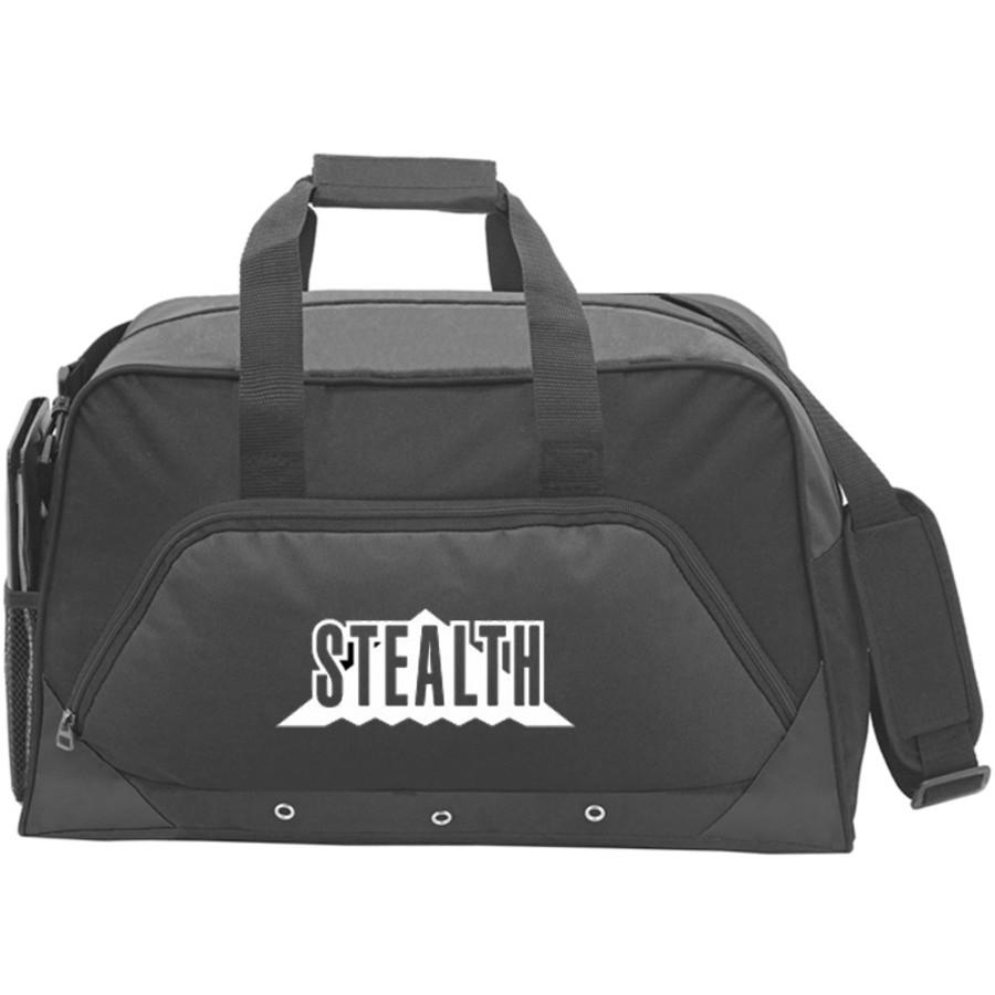 Custom Sports Duffel Bag - Black printed
