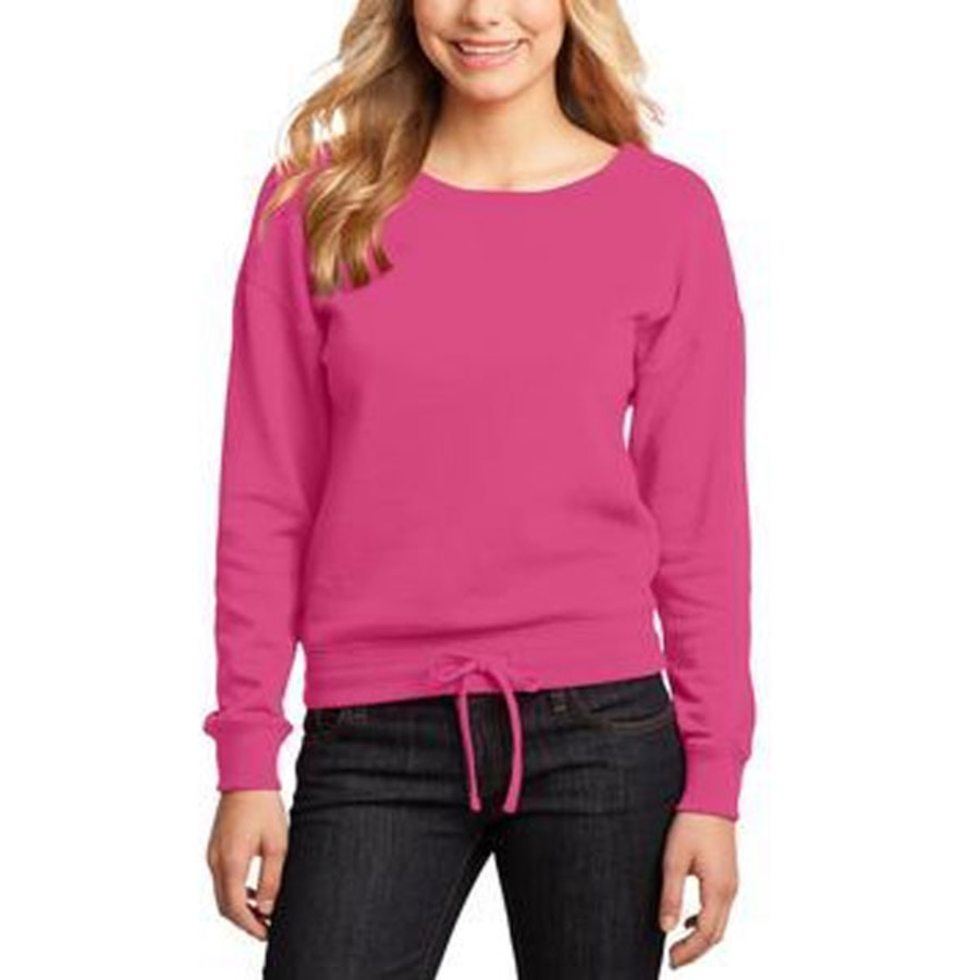 District-Juniors Core Fleece Wide Neck Pullover