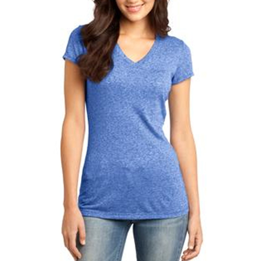 District Juniors Microburn V-Neck Cap Sleeve Tee