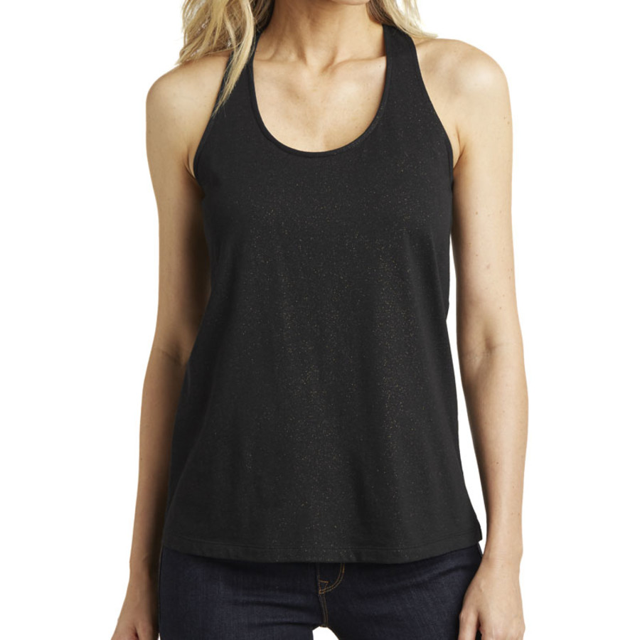 District Made Ladies Shimmer Loop Back Tank (Apparel)