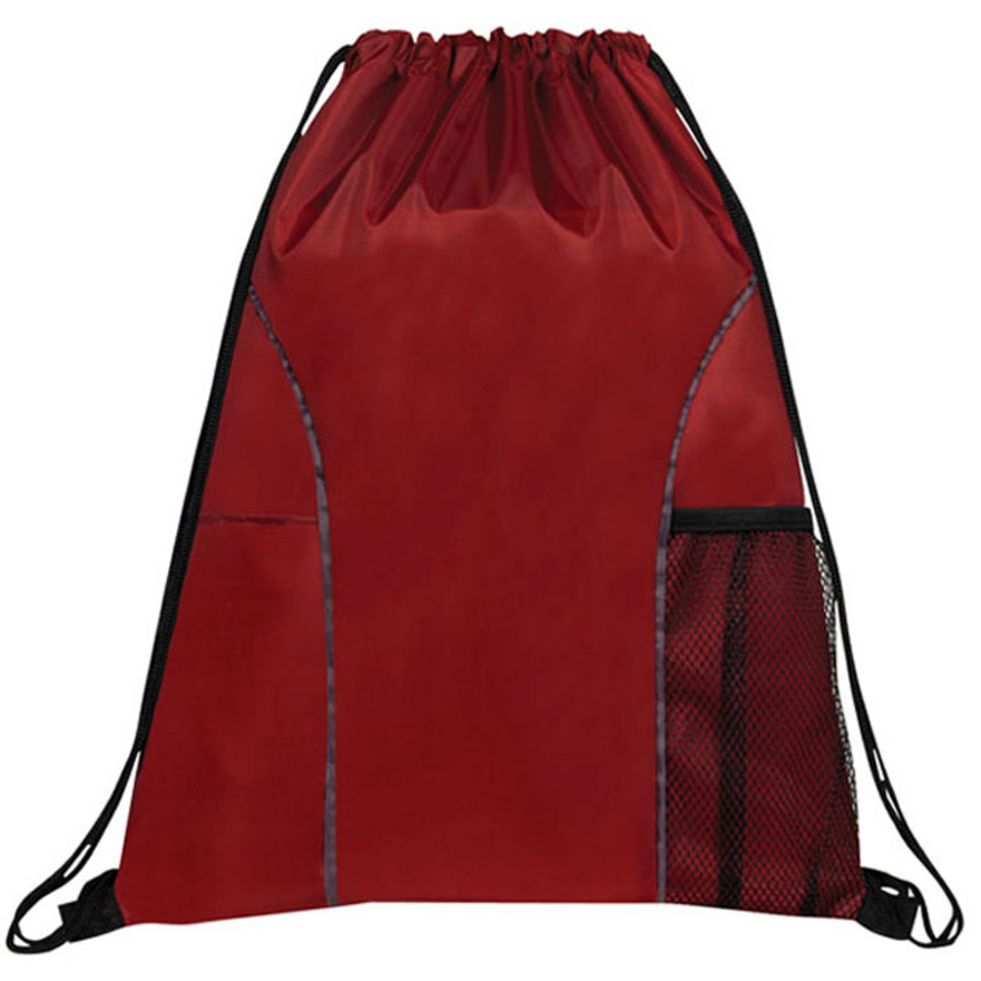 Dual Pocket Drawstring Backpack