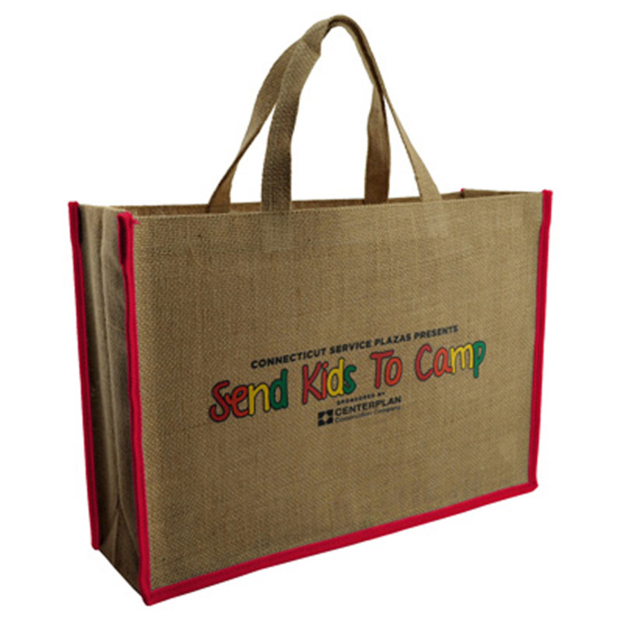 Imprinted Jute Tote Bag
