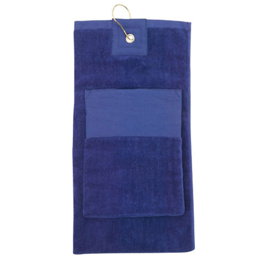 Imprinted Logo Pocket Golf Towel