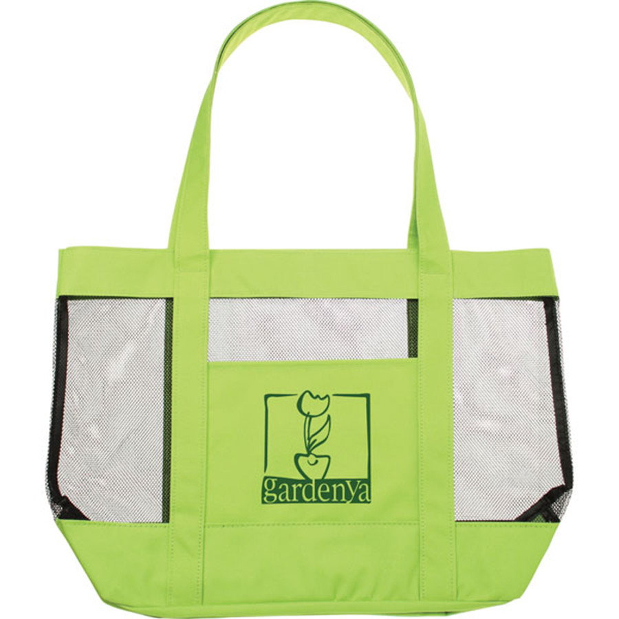 Logo Surfside Mesh Tote Bag