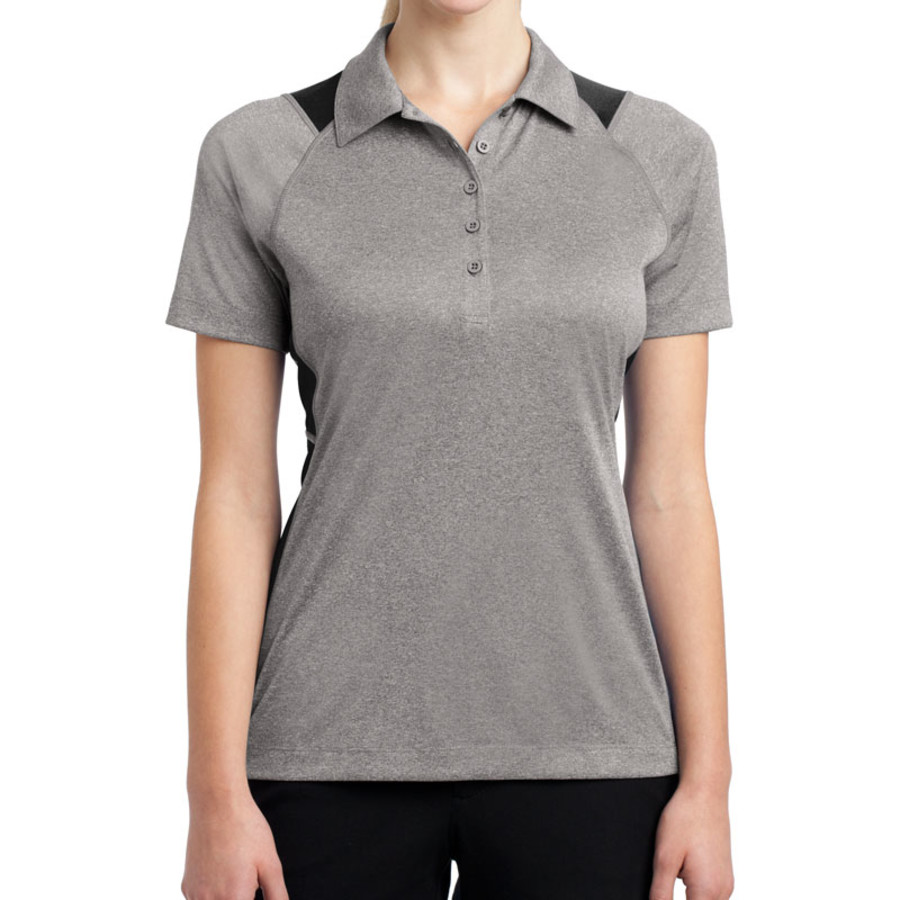 Sport-Tek Ladies Heather Colorblock Contender Polo (Apparel)