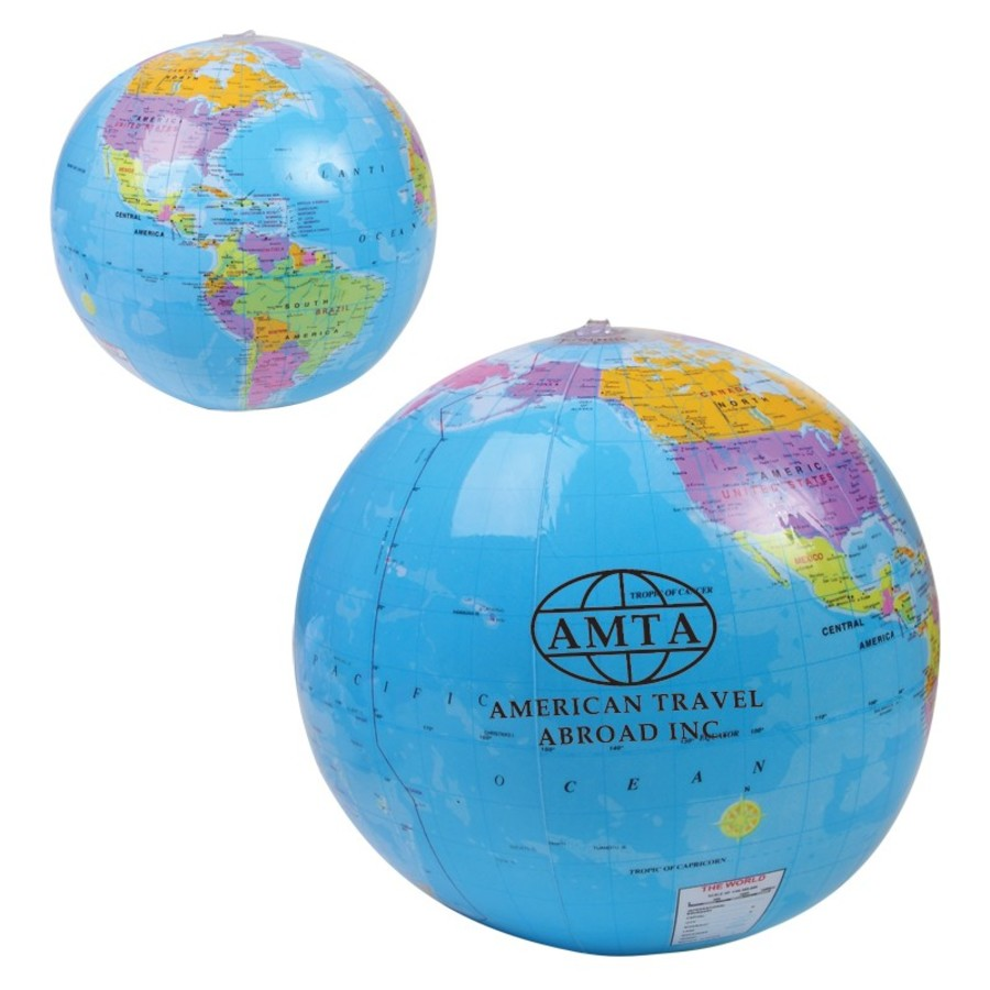 "Monogrammed 14"" Global Beach Ball"