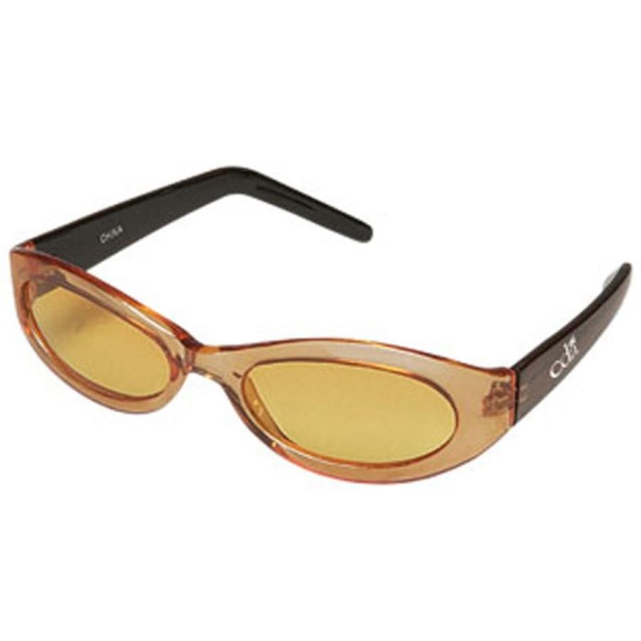 Orange Frames and Black Temples Sunglasses