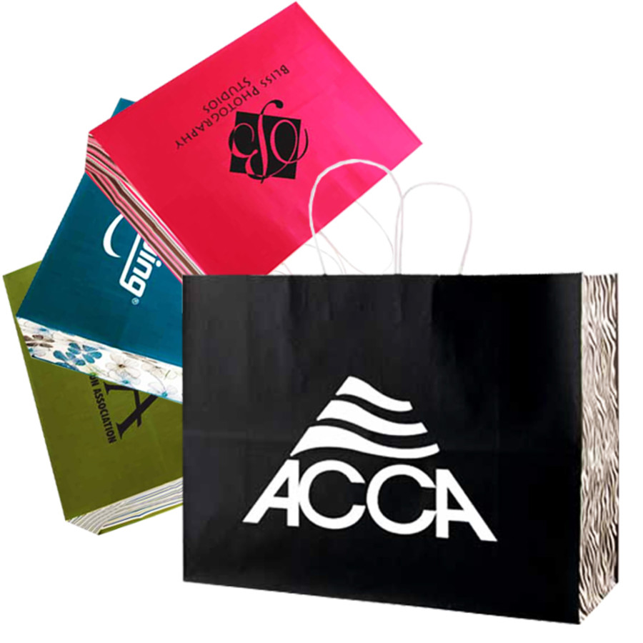 Printed White Tints and Shopping Bags