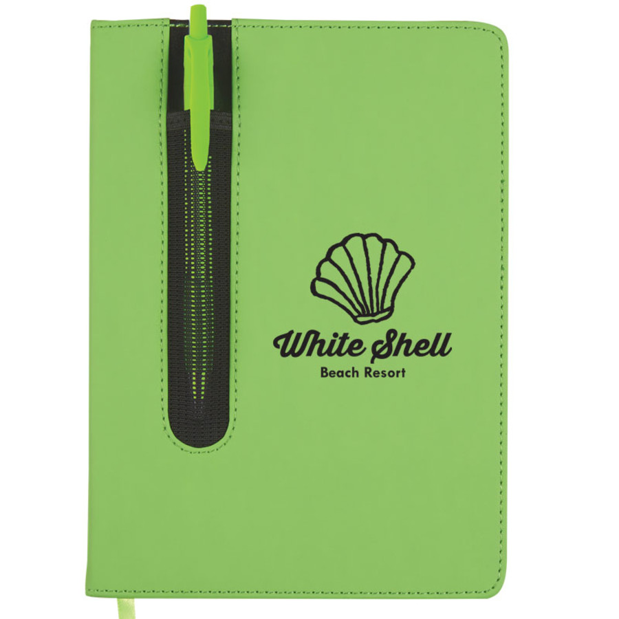 "Personalized 5"" x 7"" Pen Pouch Notebook"