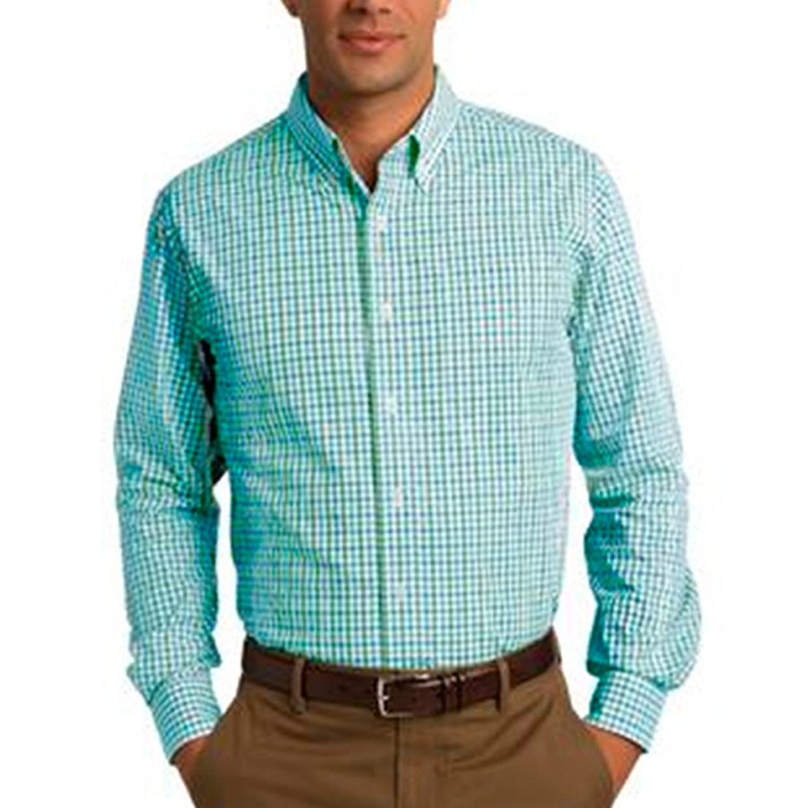 Port Authority Long Sleeve Gingham Easy Care Shirt