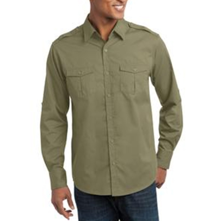 Port Authority - Stain-Resistant Roll Sleeve Twill Shirt