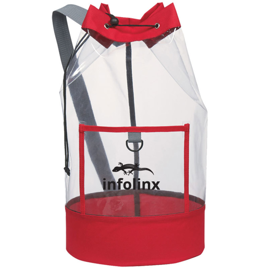 Promotional Clear Barrel Sling Bag