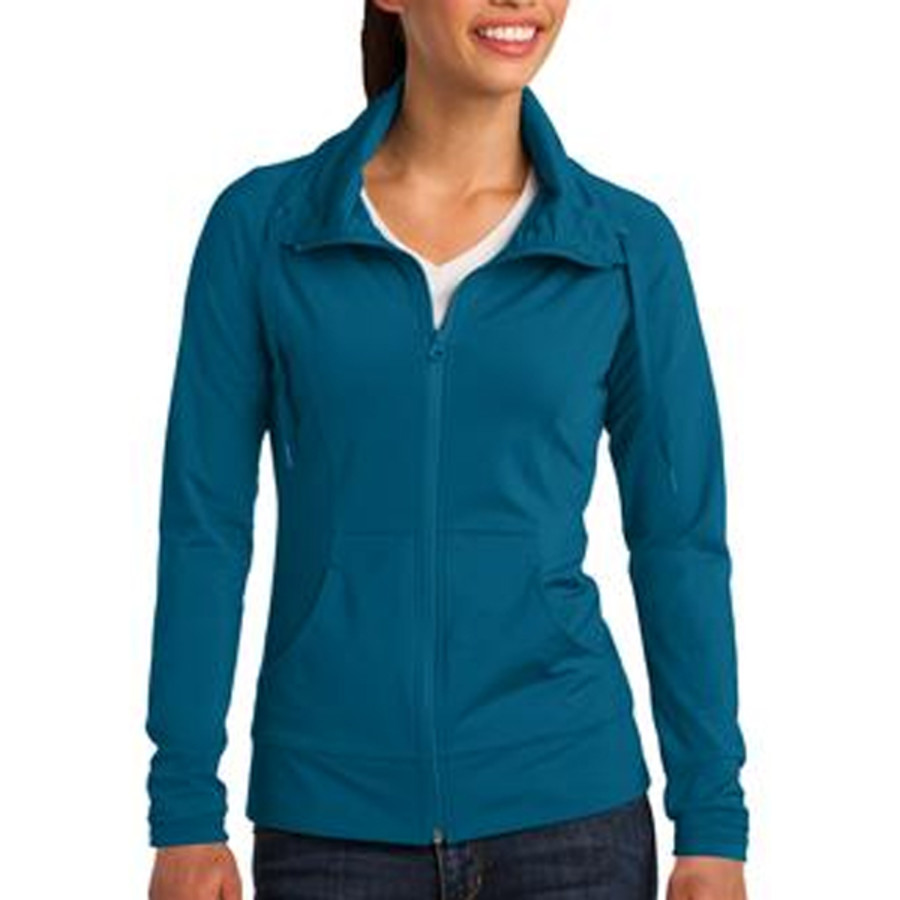 Sport-Tek Ladies Sport-Wick Stretch Full-Zip Jacket1
