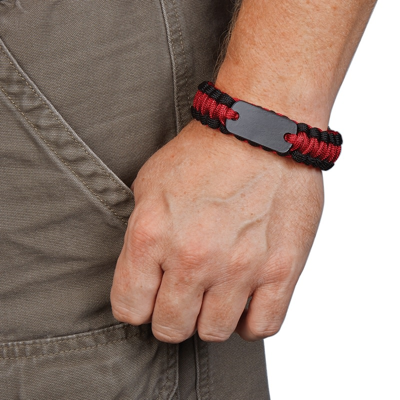 Paracord Survival Bracelet With Metal Plate Silkletter