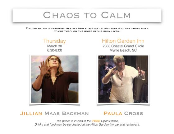 Chaos to Calm: FREE Event with Jillian Maas Backman & Paula Cross