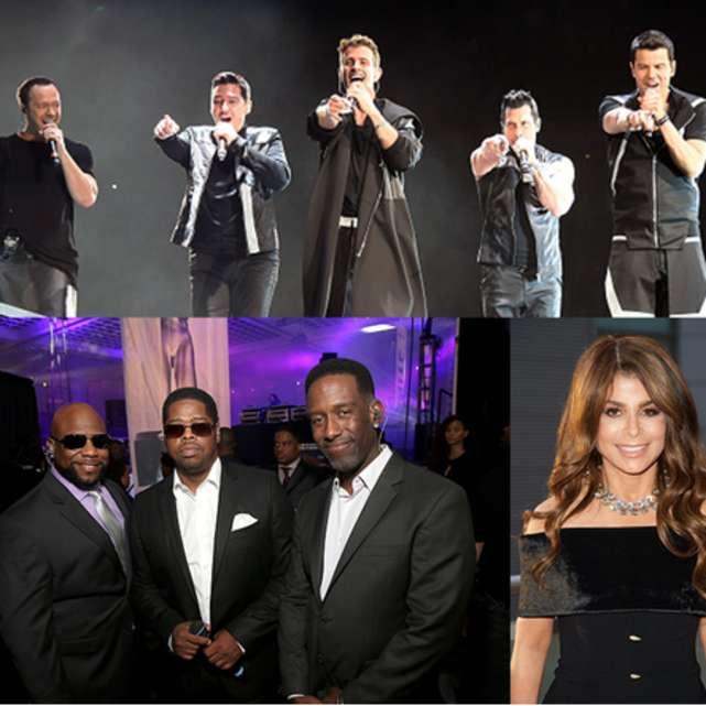 New Kids On The Block, Paula Abdul & Boyz II Men