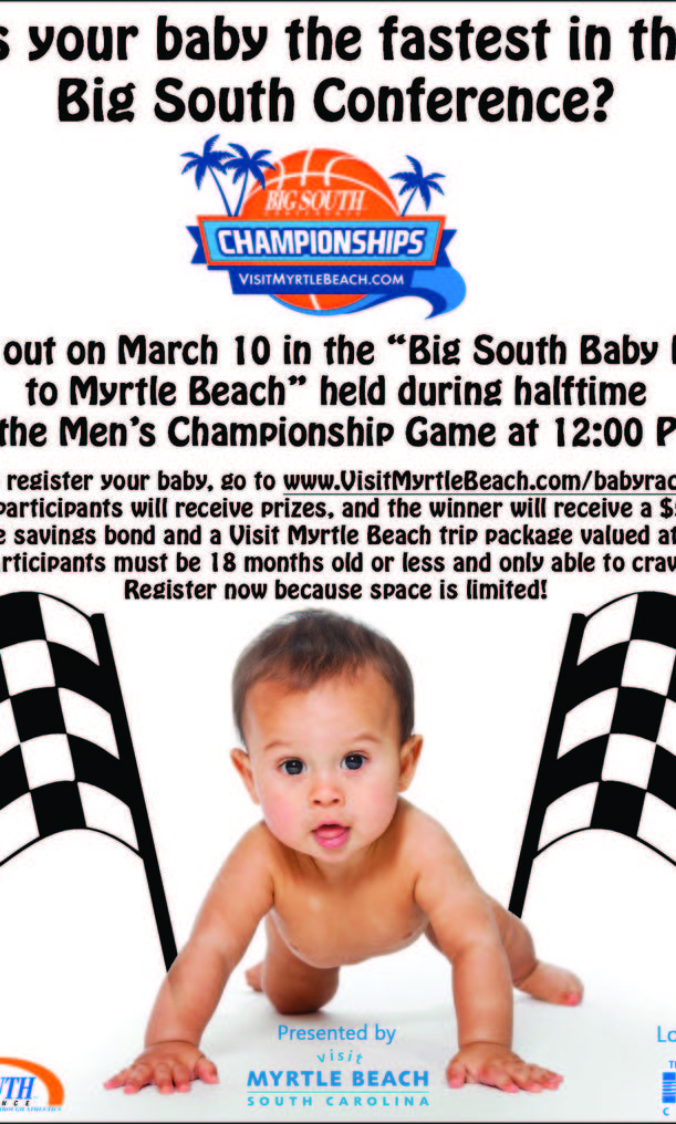 VisitMyrtleBeach.com's 'Big South Baby Race to Myrtle Beach' is calling all crawlers.