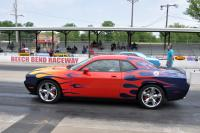 Challenger on drag strip