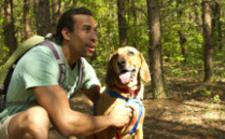 Man Hiking with Dog - Outdoor Adventure