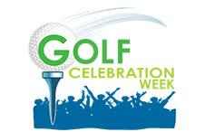 Golf celebration logo