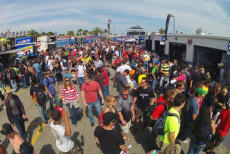 Inside the Paddock at Daytona International Speedway