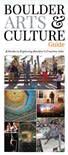 Boulder Arts & Culture Guide