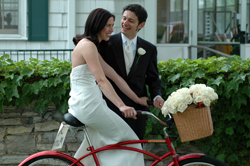 Biking Newlyweds by Loren Kerns