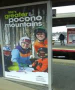 Winter 2015/16 - Transit - Platform Poster - Pocono Mountains Visitors Bureau