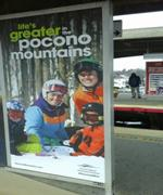 Winter 2015/16 - Transit - Platform Poster - Pocono Mountains Visitors Bureau