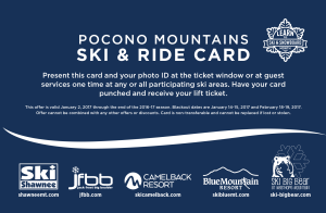 2016-17 Pocono Mountains Ski & Ride Card