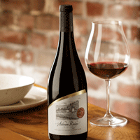 Silvan Ridge Winery Pinot Noir Bottle & Glass