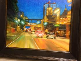 """Oil Painting of """"Welcome to Downtown"""""""