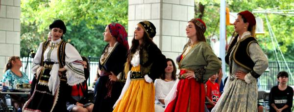 Women Dancing at Greekfest