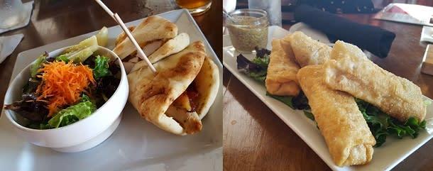 Canadian Club sandwich & spring rolls