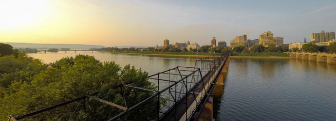 City Island Walking Bridge in Harrisburg