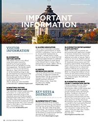 Visitors Guide 2016 - Important Information