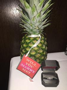 Jack Helton wedding proposal pineapple