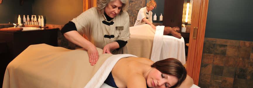 Travelers enjoying a relaxing massage.
