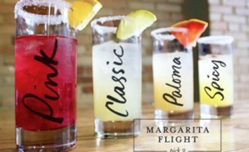 Margarita flight at Luna Taqueria & Cocina in Grand Rapids