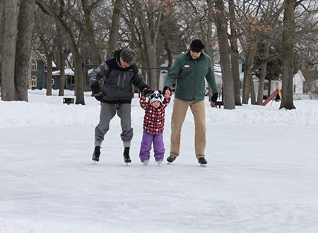 Ice Skating at F&M Park