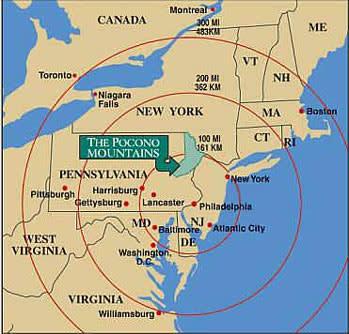 The Pocono Mountains Map